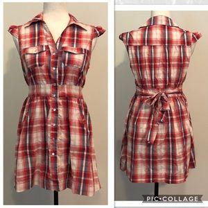 Ali & Kris Plaid Button Down Dress
